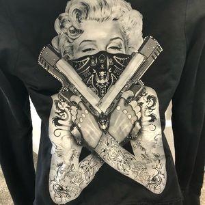 Marilyn Monroe bling hoodie S